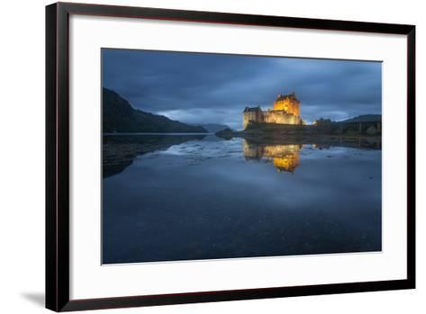 Castle On An Island In Scotland-Philippe Manguin-Framed Art Print