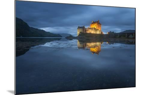 Castle On An Island In Scotland-Philippe Manguin-Mounted Photographic Print