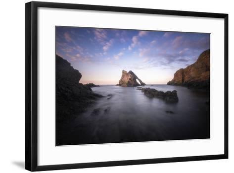 Bow Fiddle Rock In Scotland Sea-Philippe Manguin-Framed Art Print