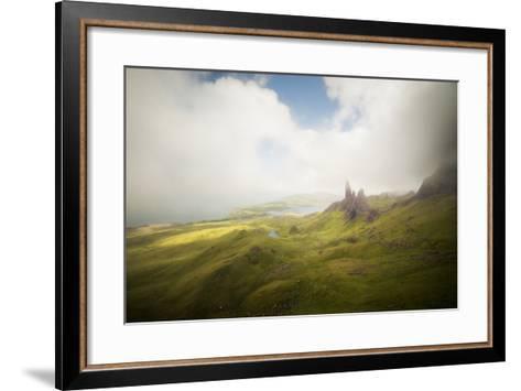 Isle Of Skye Old Man Of Storr In Scotland-Philippe Manguin-Framed Art Print