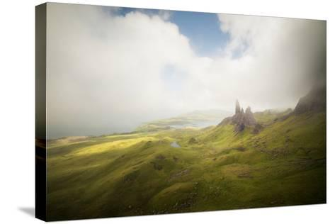 Isle Of Skye Old Man Of Storr In Scotland-Philippe Manguin-Stretched Canvas Print