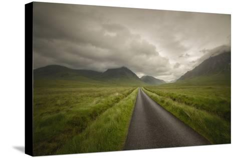 The Road To Highlands-Philippe Manguin-Stretched Canvas Print