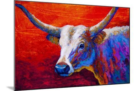 Sunset Ablaze Longhorn-Marion Rose-Mounted Giclee Print