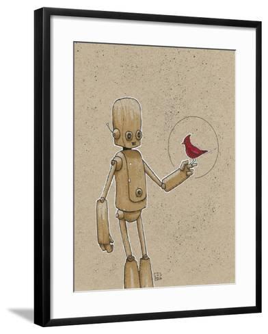 Ink Marker Bot Cardinal-Craig Snodgrass-Framed Art Print