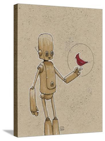 Ink Marker Bot Cardinal-Craig Snodgrass-Stretched Canvas Print