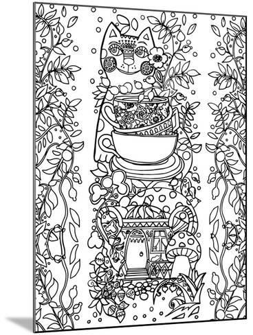 Beads from Rose Hips-2 Line Art-Oxana Zaika-Mounted Giclee Print