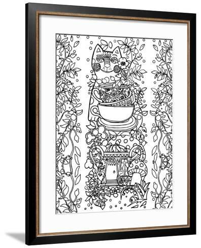 Beads from Rose Hips-2 Line Art-Oxana Zaika-Framed Art Print