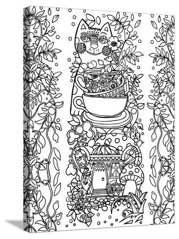 Beads from Rose Hips-2 Line Art-Oxana Zaika-Stretched Canvas Print