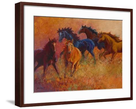 Free Range Horses-Marion Rose-Framed Art Print