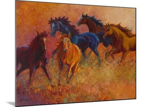 Free Range Horses-Marion Rose-Mounted Giclee Print