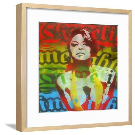 Limelight Woman-Abstract Graffiti-Framed Art Print