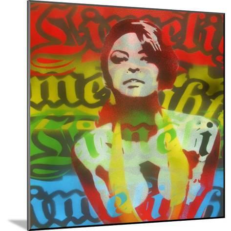 Limelight Woman-Abstract Graffiti-Mounted Giclee Print