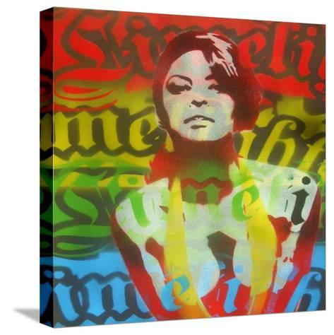 Limelight Woman-Abstract Graffiti-Stretched Canvas Print