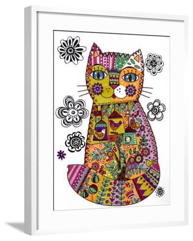Folk Cat 3-Oxana Zaika-Framed Art Print