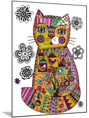 Folk Cat 3-Oxana Zaika-Mounted Giclee Print