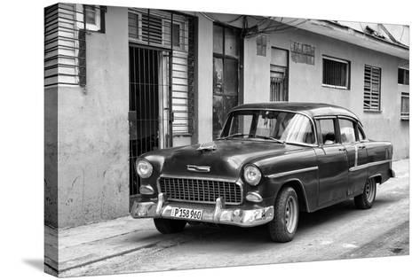 Cuba Fuerte Collection B&W - Old Antique Car in Havana VIII-Philippe Hugonnard-Stretched Canvas Print