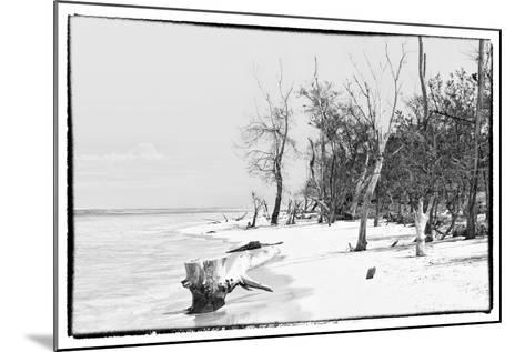 Cuba Fuerte Collection B&W - Wooden Beach-Philippe Hugonnard-Mounted Photographic Print