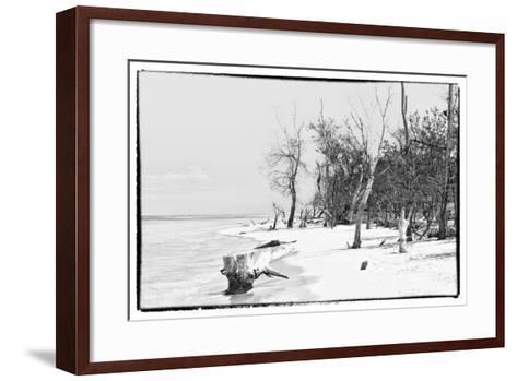 Cuba Fuerte Collection B&W - Wooden Beach-Philippe Hugonnard-Framed Art Print