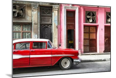 Cuba Fuerte Collection - Old Classic American Red Car-Philippe Hugonnard-Mounted Photographic Print