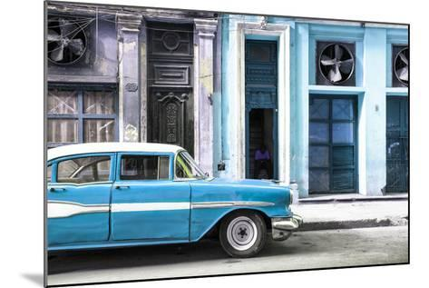 Cuba Fuerte Collection - Old Classic American Blue Car-Philippe Hugonnard-Mounted Photographic Print