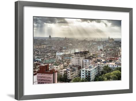 Cuba Fuerte Collection - Rays of light on Havana II-Philippe Hugonnard-Framed Art Print