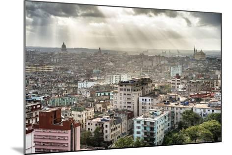 Cuba Fuerte Collection - Rays of light on Havana II-Philippe Hugonnard-Mounted Photographic Print