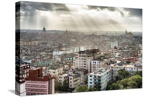 Cuba Fuerte Collection - Rays of light on Havana II-Philippe Hugonnard-Stretched Canvas Print