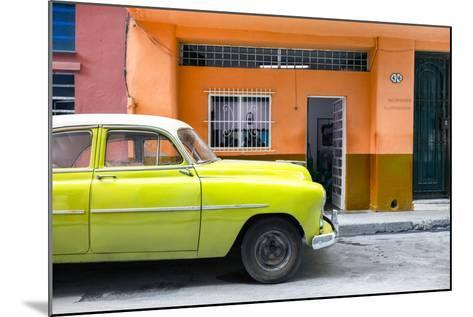 Cuba Fuerte Collection - Vintage Lime Green Car of Havana-Philippe Hugonnard-Mounted Photographic Print
