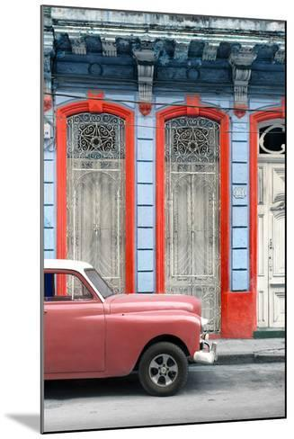 Cuba Fuerte Collection - Coral Vintage Car in Havana II-Philippe Hugonnard-Mounted Photographic Print