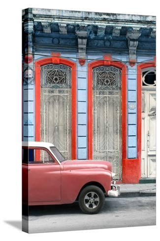 Cuba Fuerte Collection - Coral Vintage Car in Havana II-Philippe Hugonnard-Stretched Canvas Print