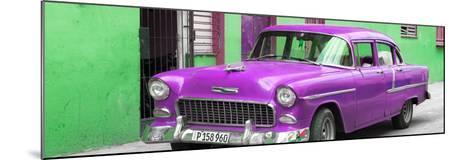 Cuba Fuerte Collection Panoramic - Beautiful Classic American Purple Car-Philippe Hugonnard-Mounted Photographic Print