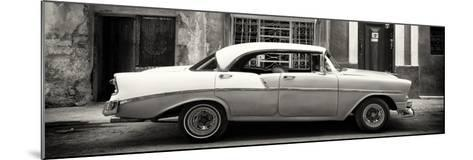 Cuba Fuerte Collection Panoramic BW - Vintage American Car-Philippe Hugonnard-Mounted Photographic Print
