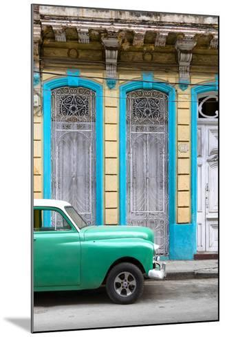 Cuba Fuerte Collection - Green Vintage Car in Havana II-Philippe Hugonnard-Mounted Photographic Print