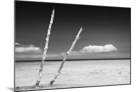 Cuba Fuerte Collection B&W - Alone in the Ocean II-Philippe Hugonnard-Mounted Photographic Print