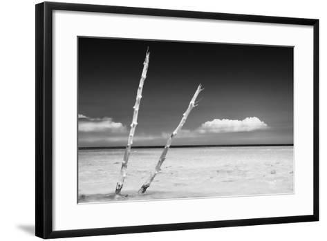 Cuba Fuerte Collection B&W - Alone in the Ocean II-Philippe Hugonnard-Framed Art Print
