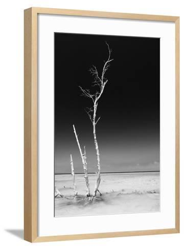 Cuba Fuerte Collection B&W - Alone in the Ocean IV-Philippe Hugonnard-Framed Art Print