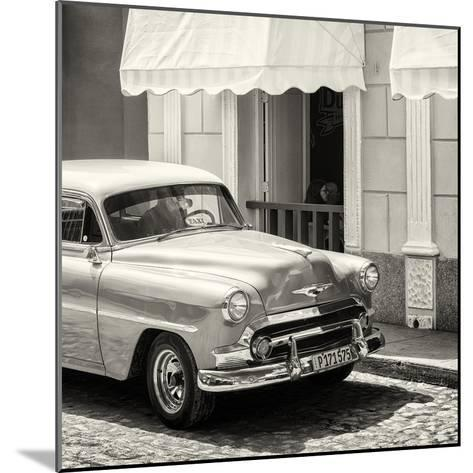 Cuba Fuerte Collection SQ BW - Close-up of Cuban Taxi Trinidad-Philippe Hugonnard-Mounted Photographic Print