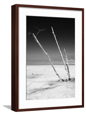 Cuba Fuerte Collection B&W - Alone in the Ocean-Philippe Hugonnard-Framed Art Print
