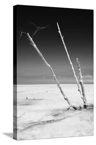 Cuba Fuerte Collection B&W - Alone in the Ocean-Philippe Hugonnard-Stretched Canvas Print