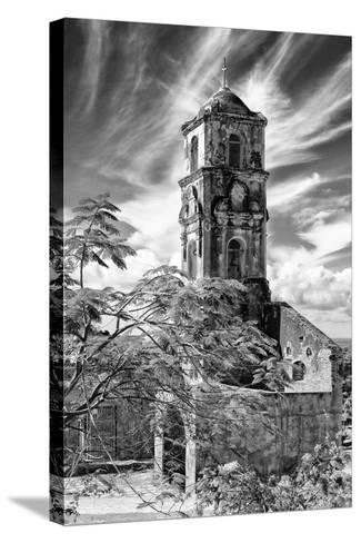 Cuba Fuerte Collection B&W - Church of Santa Ana in Trinidad IV-Philippe Hugonnard-Stretched Canvas Print