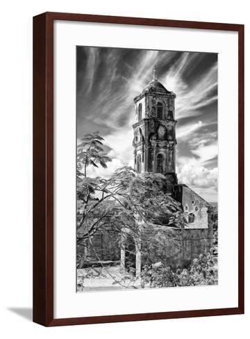 Cuba Fuerte Collection B&W - Church of Santa Ana in Trinidad IV-Philippe Hugonnard-Framed Art Print