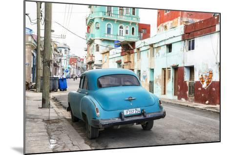 Cuba Fuerte Collection - Blue Classic Car in Havana-Philippe Hugonnard-Mounted Photographic Print