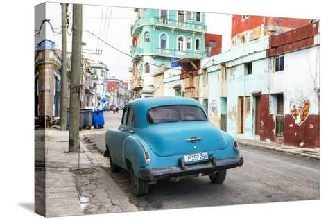 Cuba Fuerte Collection - Blue Classic Car in Havana-Philippe Hugonnard-Stretched Canvas Print