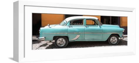 Cuba Fuerte Collection Panoramic - Retro Turquoise Car-Philippe Hugonnard-Framed Art Print