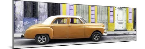 Cuba Fuerte Collection Panoramic - Orange Vintage Car in Havana-Philippe Hugonnard-Mounted Photographic Print
