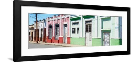 Cuba Fuerte Collection Panoramic - Colorful Facades-Philippe Hugonnard-Framed Art Print