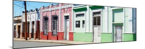 Cuba Fuerte Collection Panoramic - Colorful Facades-Philippe Hugonnard-Mounted Photographic Print