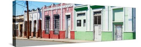 Cuba Fuerte Collection Panoramic - Colorful Facades-Philippe Hugonnard-Stretched Canvas Print