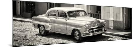 Cuba Fuerte Collection Panoramic BW - Cuban Taxi-Philippe Hugonnard-Mounted Photographic Print