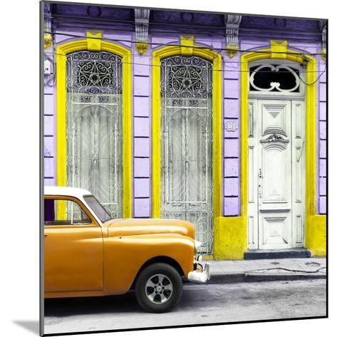 Cuba Fuerte Collection SQ - Orange Vintage Car in Havana II-Philippe Hugonnard-Mounted Photographic Print